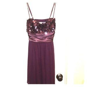 Deep plum homecoming/prom/formal dress